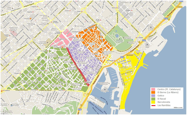 Carte Barcelone Las Ramblas.Hibcn Com House Neighborhood
